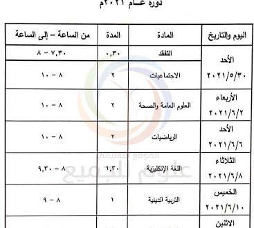 برنامج فحص التاسع 2021 سوريا اساسي