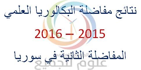 Post image of نتائج مفاضلة البكالوريا العلمي في سوريا 2015-2016 المفاضلة الثانية