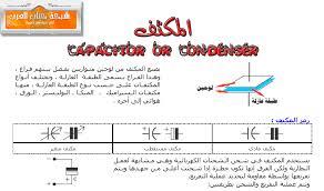 ملخص المكثف الكهربائي للصف الثاني عشر العلمي