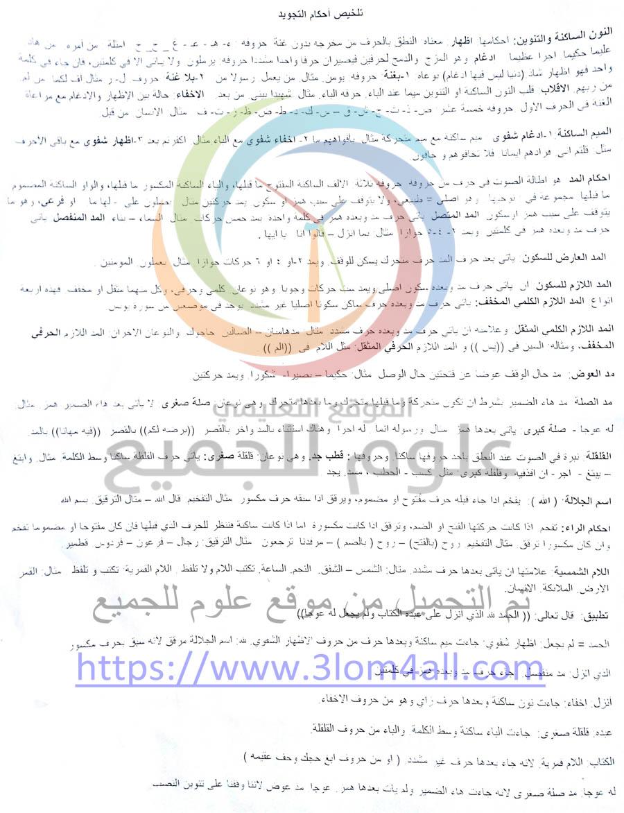 التاسع ديانة اسلامية - جلسة امتحانية ومراجعة لكل ماهو هام وممكن ان يأتي بالامتحان النهائي