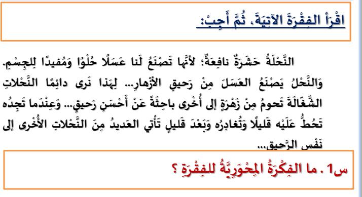 الدليل الارشادي في اللغة العربية للفصل الثاني لصف الثالث  في الامارات