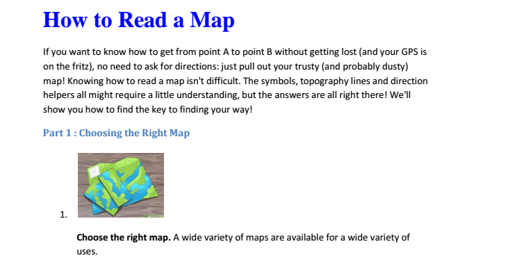 تقرير عن درس  how to read  a map لمادة النكليزي الفصل الثاني لصف السابع   في الامارات