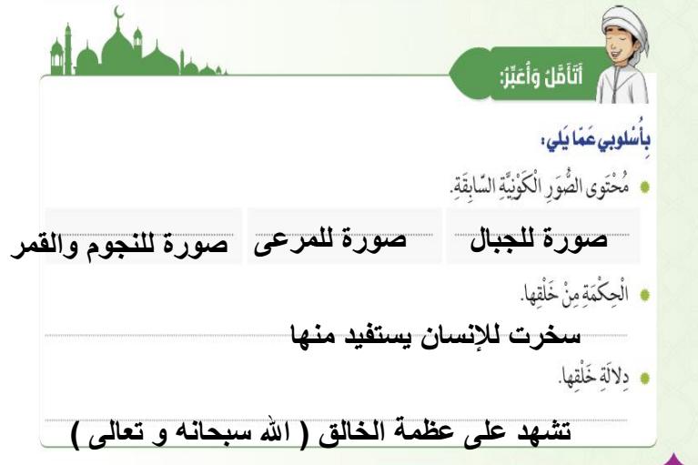 درس سورة النبا  لمادة التربية الاسلامية الفصل الثالث لصف الخامس.. في الامارات