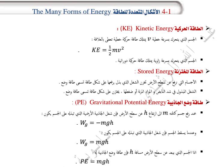 الاشكال المتعددة للطاقة لمادة العلوم  الفصل الثالث لصف العاشر  في الامارات