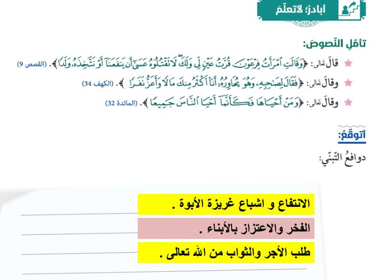 درس رسول الله صلى الله عليه وسلم خاتم الانبياء  لفصل الثالث لمادة التربية الاسلامية لصف الحادي عاشر   في الامارات