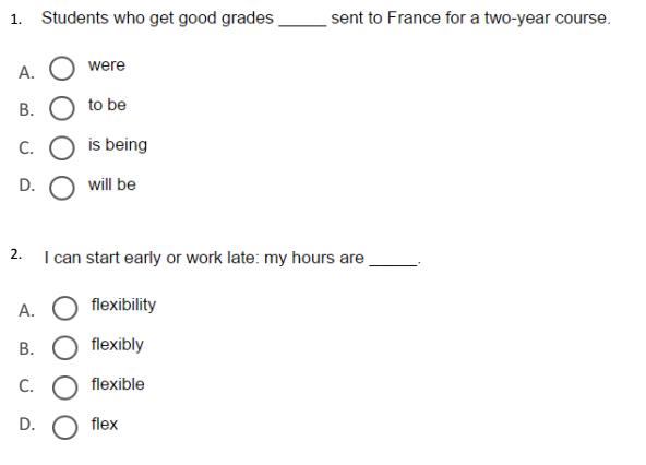 نموذج اسئلة اللغة الانجليزية  لطلاب الصف الثاني عشر متقدم في الامارات