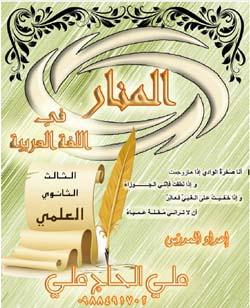 شرح المنهاج الجديد كامل لمادة اللغة العربية للبكالوريا العلمي سوريا أ.علي الحاج علي
