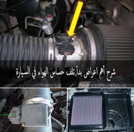 حساس الهواء ال mass  منظومة تغذية محرك السيارة بالهواء