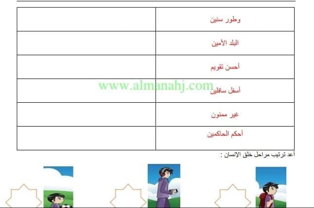 الصف الثلث في الامارات تربية اسلامية سورة التين