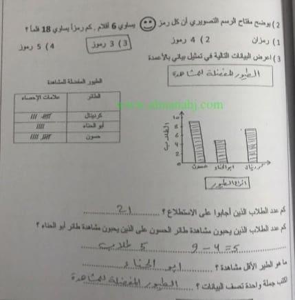 الصف الثالث في الامارات رياضيات تمارين تعزيزية واثرائية ومسائل حاتية