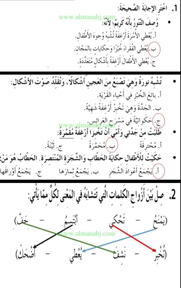 الصف الثالث في الامارات لغة عربية الوحدة السادسة ارض الحكايات