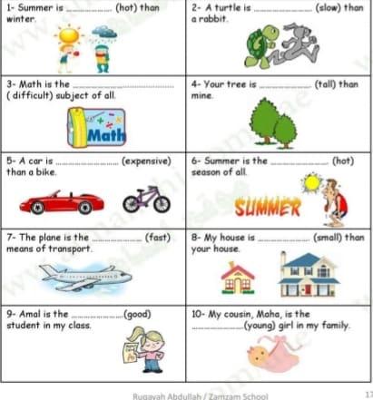 الصف الرابع في الامارات لغة انكليزية اوراق عمل الوحدة الثالثة