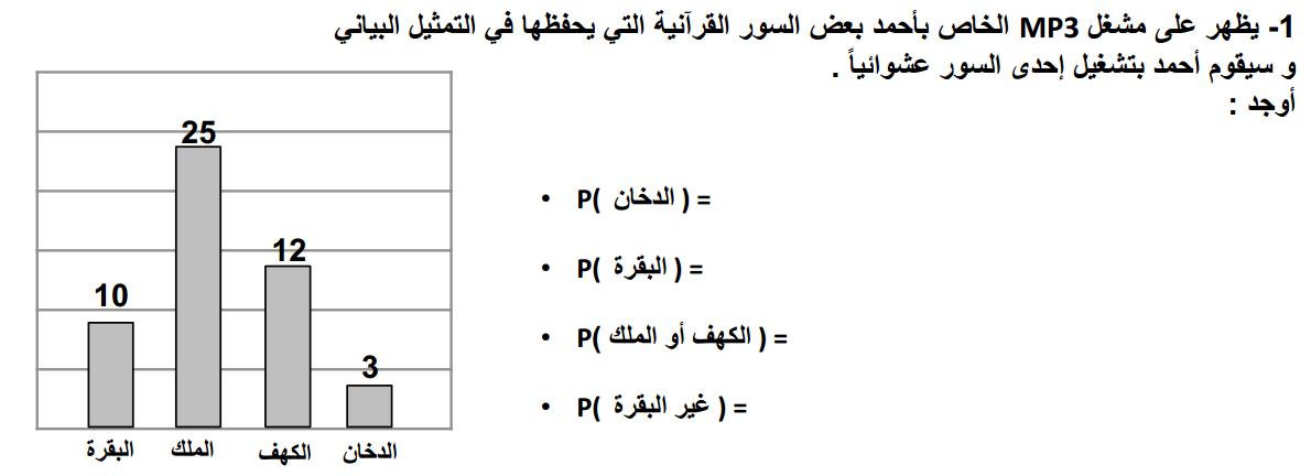 رياضيات مراجعة ثانية للوحدة التاسعة