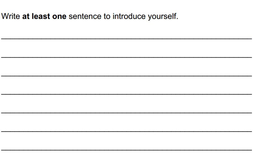 لغة انجليزية نموذج امتحان تدريبي