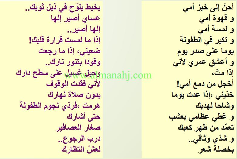 عربي نوطة دروس وتطبيقات نحوية