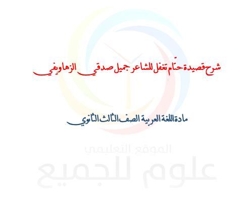 الصف البكالوريا  اللغة العربية شرح قصيدة حتّام تغفل