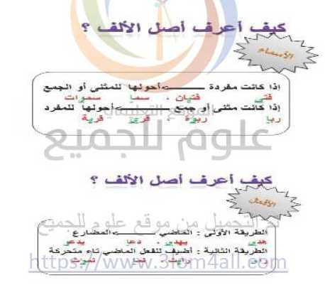 الصف السابع اللغة العربية شرح درس الألف اللينة