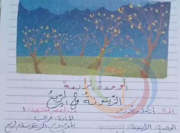 الصف الثاني اللغة العربية تحضير درس الزيتونة و الريح