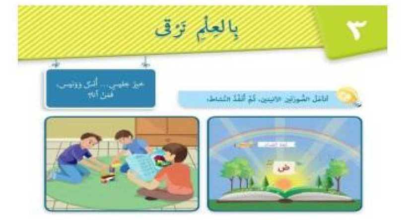 الصف الخامس اللغة العربية حل وشرح قصيدة بالعلم نرقى