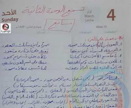 الصف السابع اللغة العربية نموذج سبر