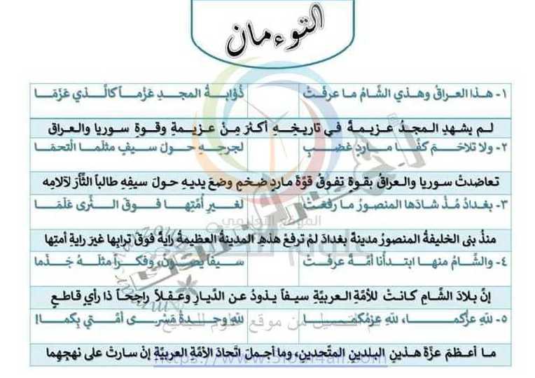 التاسع اللغة العربية شرح قصيدة  التوءمان
