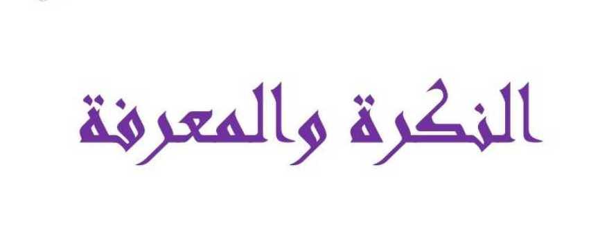 الصف الثامن اللغة العربية شرح درس النكرة والمعرفة