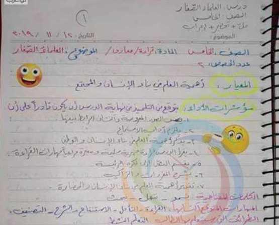 الصف الخامس اللغة العربية تحضير و حل درس العلماء الصغار