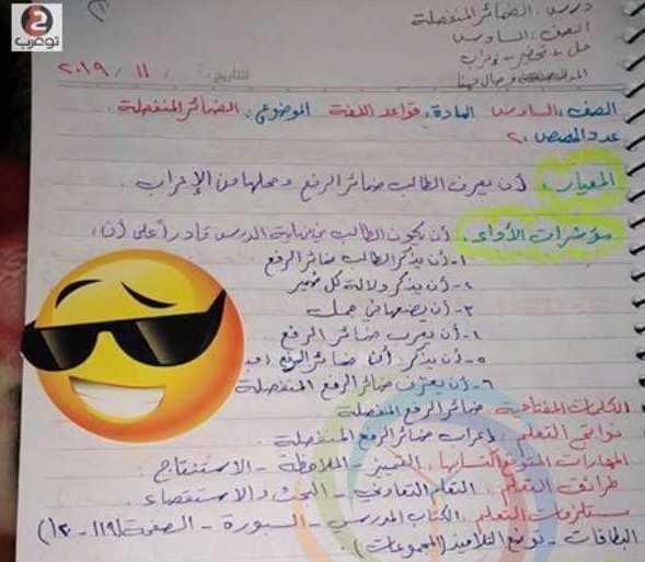 الصف السادس اللغة العربية درس الضمائر المنفصلة