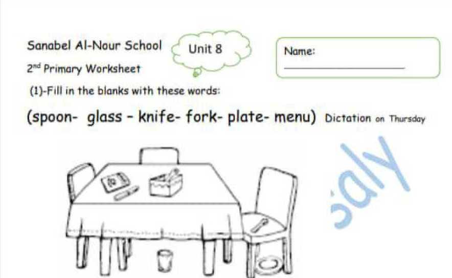 الصف الثاني اللغة الانجليزية ورقة عمل تدريبية