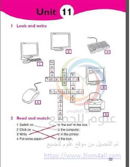 الصف الخامس اللغة الانجليزية حل الوحدة (11) كتاب الانشطة