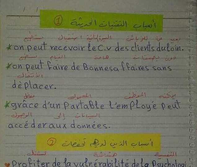 البكالوريا اللغة الفرنسية كيفية كتابة موضوع خارجي 2