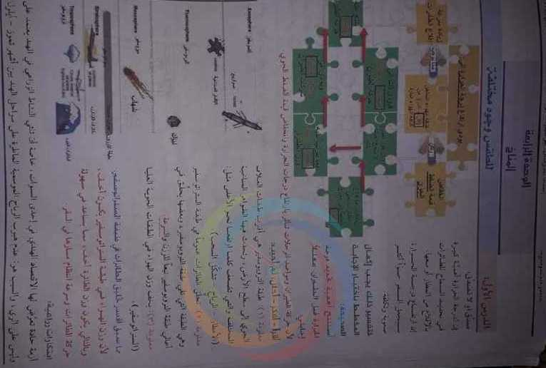 الصف الثامن الجغرافية حل الوحدة الرابعة والخامسة والسادسة