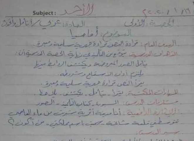 تحضير درس أفاميا اللغة العربية الصف الخامس
