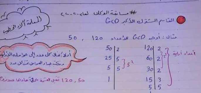 مراجعة رياضيات تفيد لمسابقة المعلمين الوكلاء