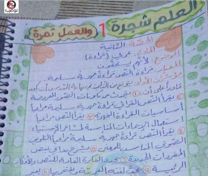 تحضير درس  لأنّهم يستحقون اللغة العربية الصف السادس