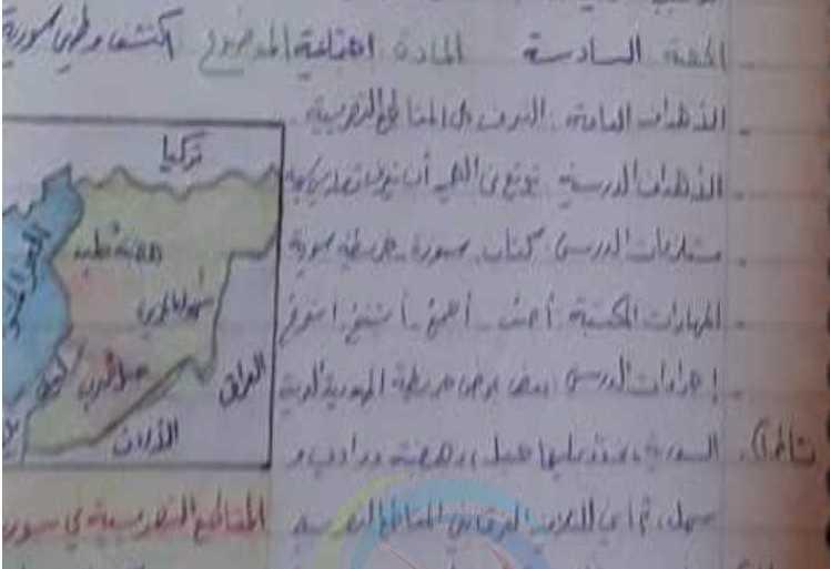 تحضير درس اكتشف وطني سورية اجتماعية الصف الثالث