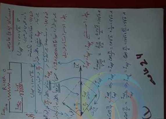 حل مسألة عامة رقم24 فيزياء البكالوريا العلمي