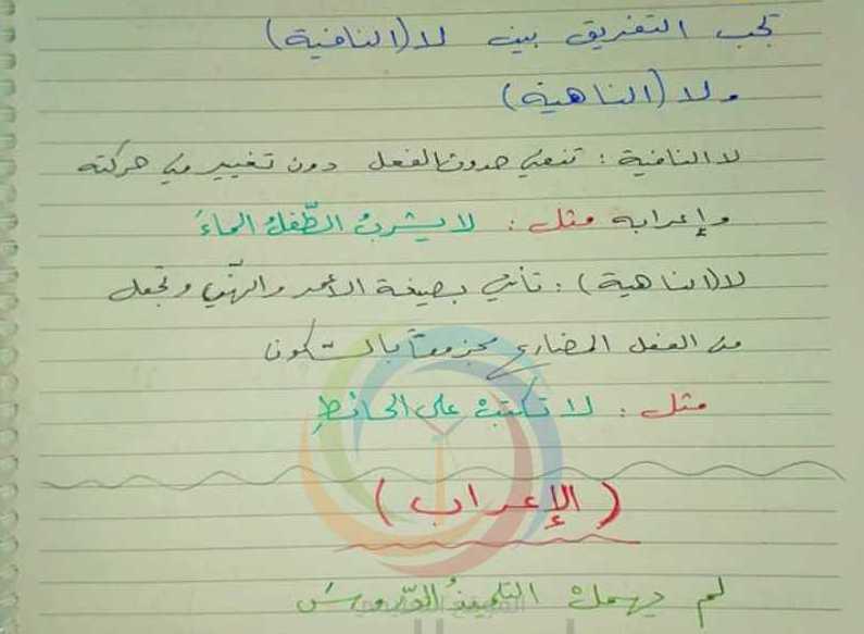 شرح درس (الأحرف الجازمة) اللغة العربية الصف الرابع