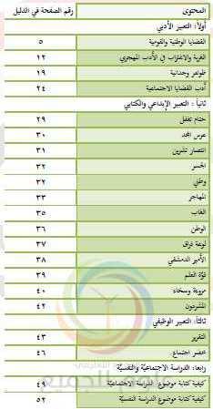 التعبير الأدبي اللغة العربية البكالوريا