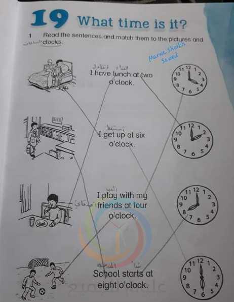 حلول الوحدة 19 اللغة الانكليزية الصف الثاني