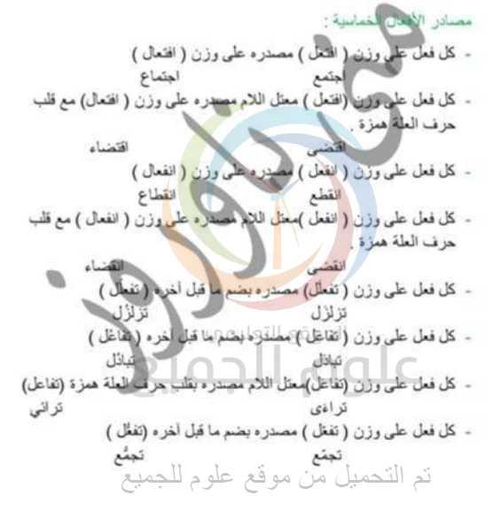 شرح المصادر ( سماعية   - قياسية ) اللغة العربية بكالوريا