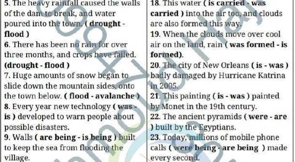 أوراق عمل محلولة للوحدة التاسعة اللغة الانكليزية الصف التاسع