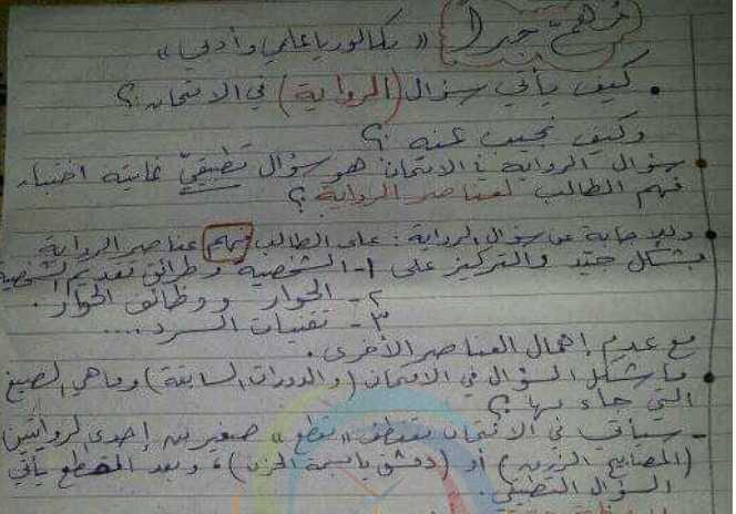 سؤال الرواية في الامتحان وكيف نجيب عنه اللغة العربية بكالوريا