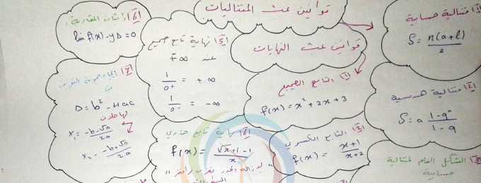 قوانين الجزء الأول رياضيات البكالوريا العلمي