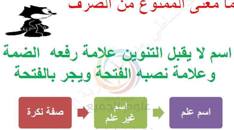 الممنوع من الصرف اللغة العربية الصف التاسع