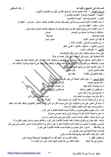 تلخيص درس تاجر البندقية في مادة اللغة العربية للصف التاسع